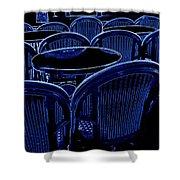 Paris Chairs Shower Curtain