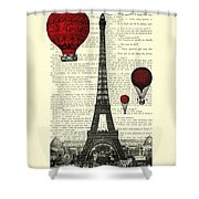 Paris, City Of Love Shower Curtain