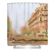 Paris, City Of Lovers Shower Curtain