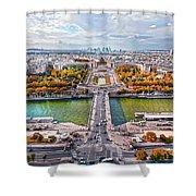 Paris City View 19 Art Shower Curtain