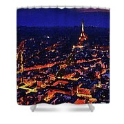 Paris City View Shower Curtain