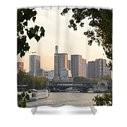 Paris Cityscape Across The Water Shower Curtain