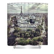 Paris Cityscape From Above, France Shower Curtain