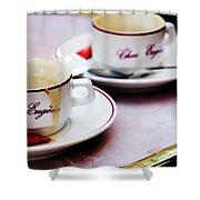 Paris Coffee Cups Shower Curtain