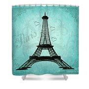 Paris Collage Shower Curtain