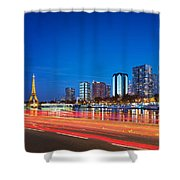 Paris Express Shower Curtain