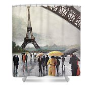 Paris Fog Shower Curtain
