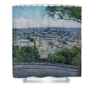 Paris From The Sacre Coeur Montmartre France 2016 Shower Curtain