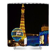 Paris Hotel At Night Shower Curtain