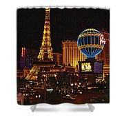 Paris In Las Vegas-nevada Shower Curtain