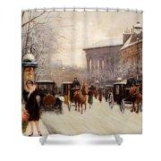 Paris In Winter Shower Curtain