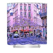 Paris Intersection Shower Curtain
