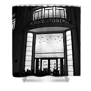 Paris Louis Vuitton Boutique - Louis Vuitton Paris Black And White Art Deco Shower Curtain