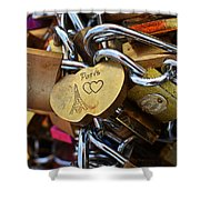 Paris Love Locks Paris France Color Shower Curtain