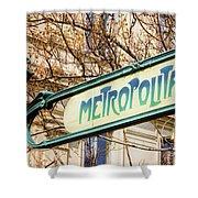 Paris Metro Sign Color Shower Curtain
