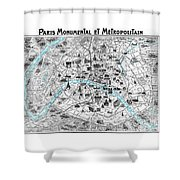 Paris Monumental Shower Curtain