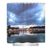 Paris Night Sky Shower Curtain by Milan Mirkovic