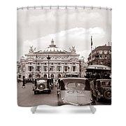Paris Opera 1935 Sepia Shower Curtain