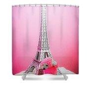 Paris Poodle Shower Curtain
