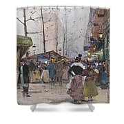 Paris Porte Saint Denis Shower Curtain