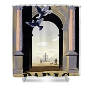 Paris Poster Shower Curtain