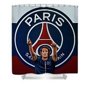 Paris Saint Germain Painting Shower Curtain