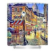Paris Street Abstract 2 Shower Curtain