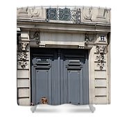 Paris Street Life 3 Shower Curtain