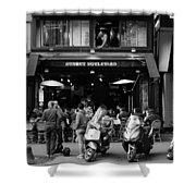 Paris Street Life 4b Shower Curtain
