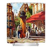 Paris, Street Musicians Shower Curtain