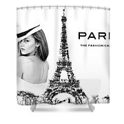 Paris The Fashion Capital Shower Curtain by ISAW Company