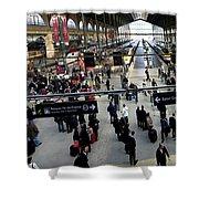 Paris Train Station Shower Curtain