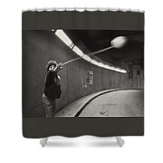 Paris Underground Yoyo Shower Curtain