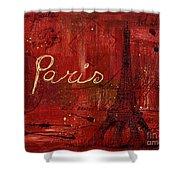 Paris - V01ct1at2cc Shower Curtain