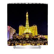 Paris Vegas Shower Curtain