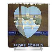 Paris Venice Railway, Orient Express Shower Curtain