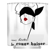 Paris Vintage Fashion Shower Curtain