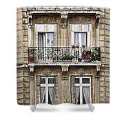 Paris Windows Shower Curtain