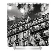 Parisian Buildings Shower Curtain