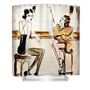 Parisian Cabaret Shower Curtain