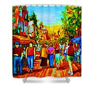 Parisian Cafes Shower Curtain