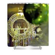 Parisian Holiday Shower Curtain