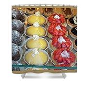 Parisian Pastries Shower Curtain