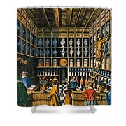 Parisian Pharmacy, 1624 Shower Curtain