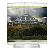 Parisian Spaceship Shower Curtain