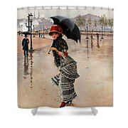 Parisienne On A Rainy Day Shower Curtain