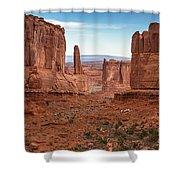 Park Avenue Arches National Park Shower Curtain