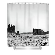 Park Avenue At First Light - Arches National Park Shower Curtain