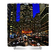 Park Avenue At Night Shower Curtain