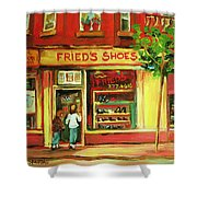 Park Avenue Shoe Store Shower Curtain